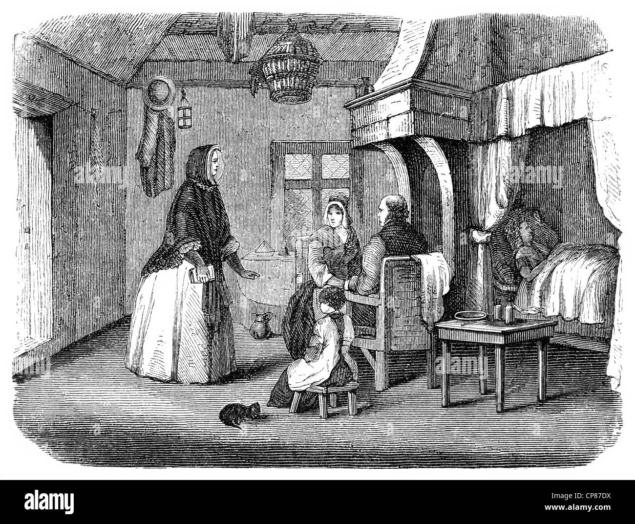 Wilhelmine Amalie Sieveking, 1794 - 1859, co-founder of the organized social work in Germany, Amalie Wilhelmine - Stock Image