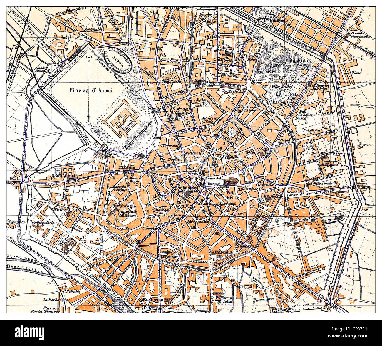 Milan Map Stock Photos & Milan Map Stock Images - Alamy