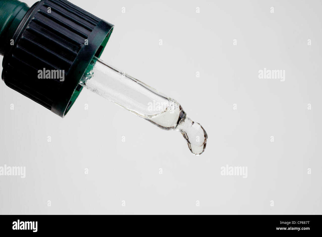 Pipette of a medicine bottle, Pipette einer Medizinflasche Stock Photo