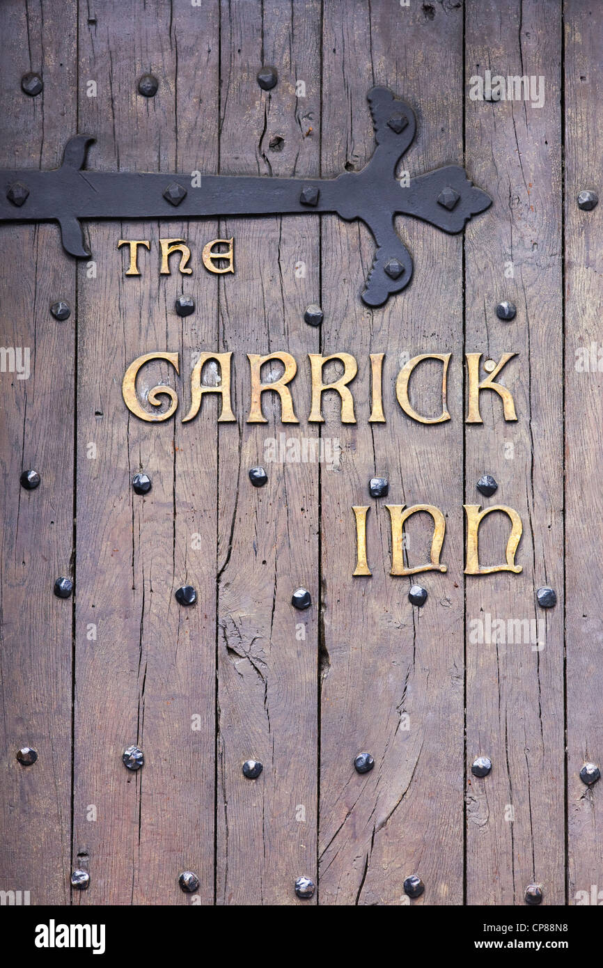 Doorway to the Garrick Inn, Stratford upon Avon, Warwickshire, UK - Stock Image