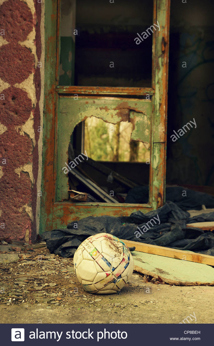 End of play (former Red Army garrison town) Stock Photo
