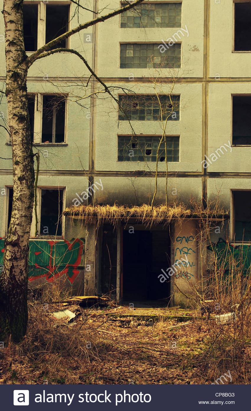 Remains of Socialism (former Red Army garrison town) Stock Photo