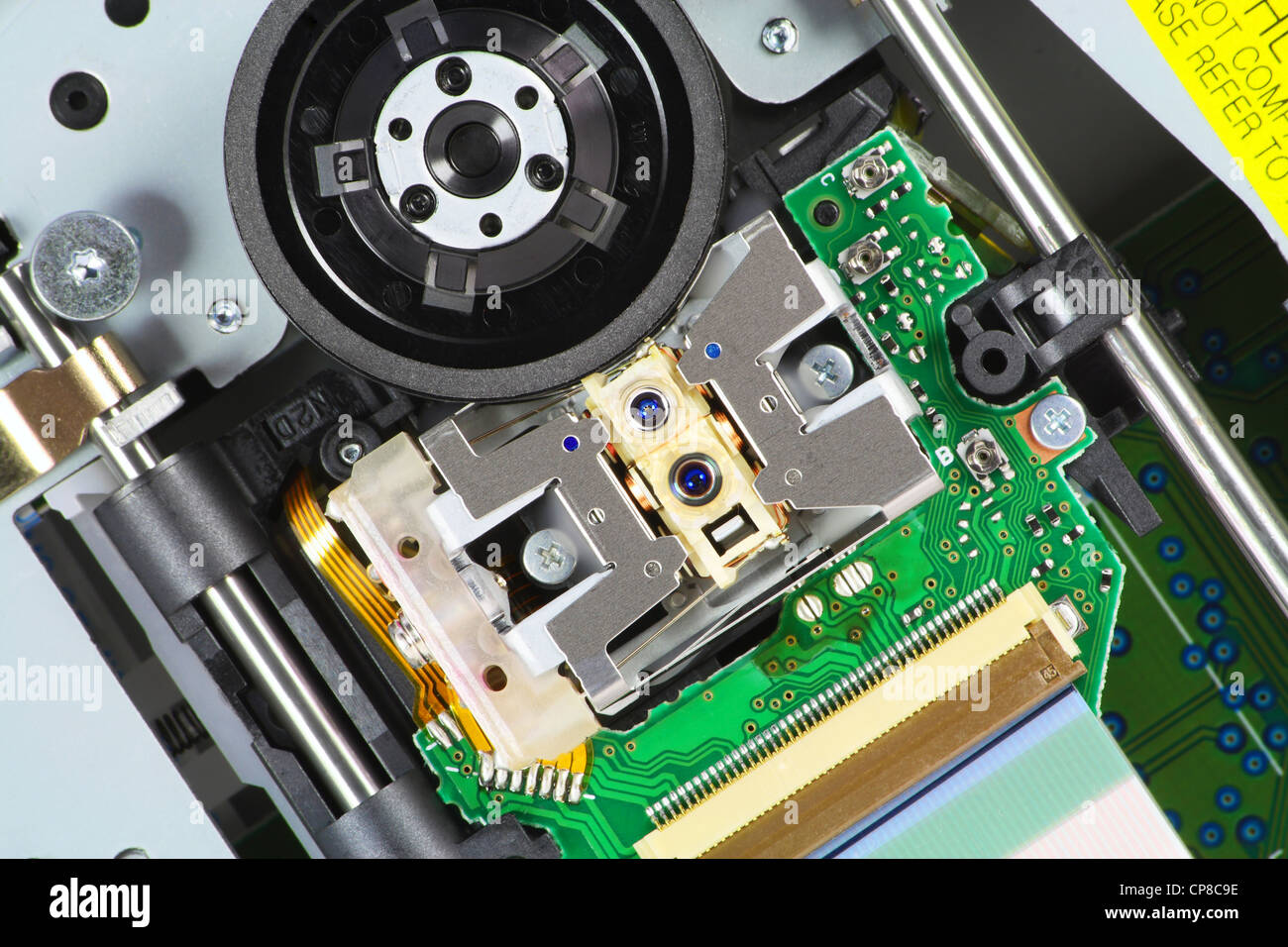The modern blu-ray laser unit for reading Blue-Ray and DVD of disks. Mass production. Selective focus. - Stock Image