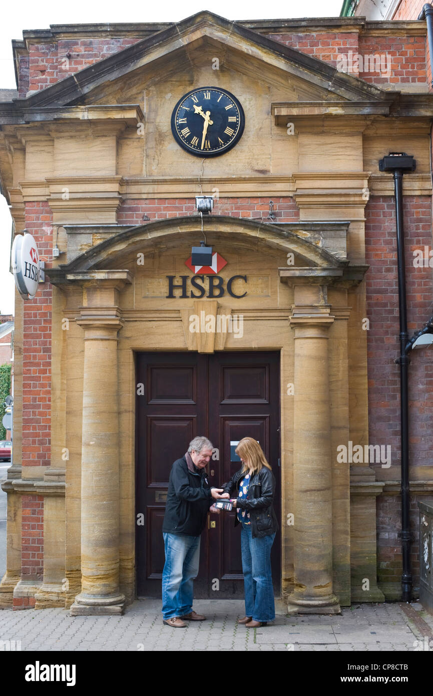 Exterior of HSBC Bank on high street in Bromyard Herefordshire England UK - Stock Image