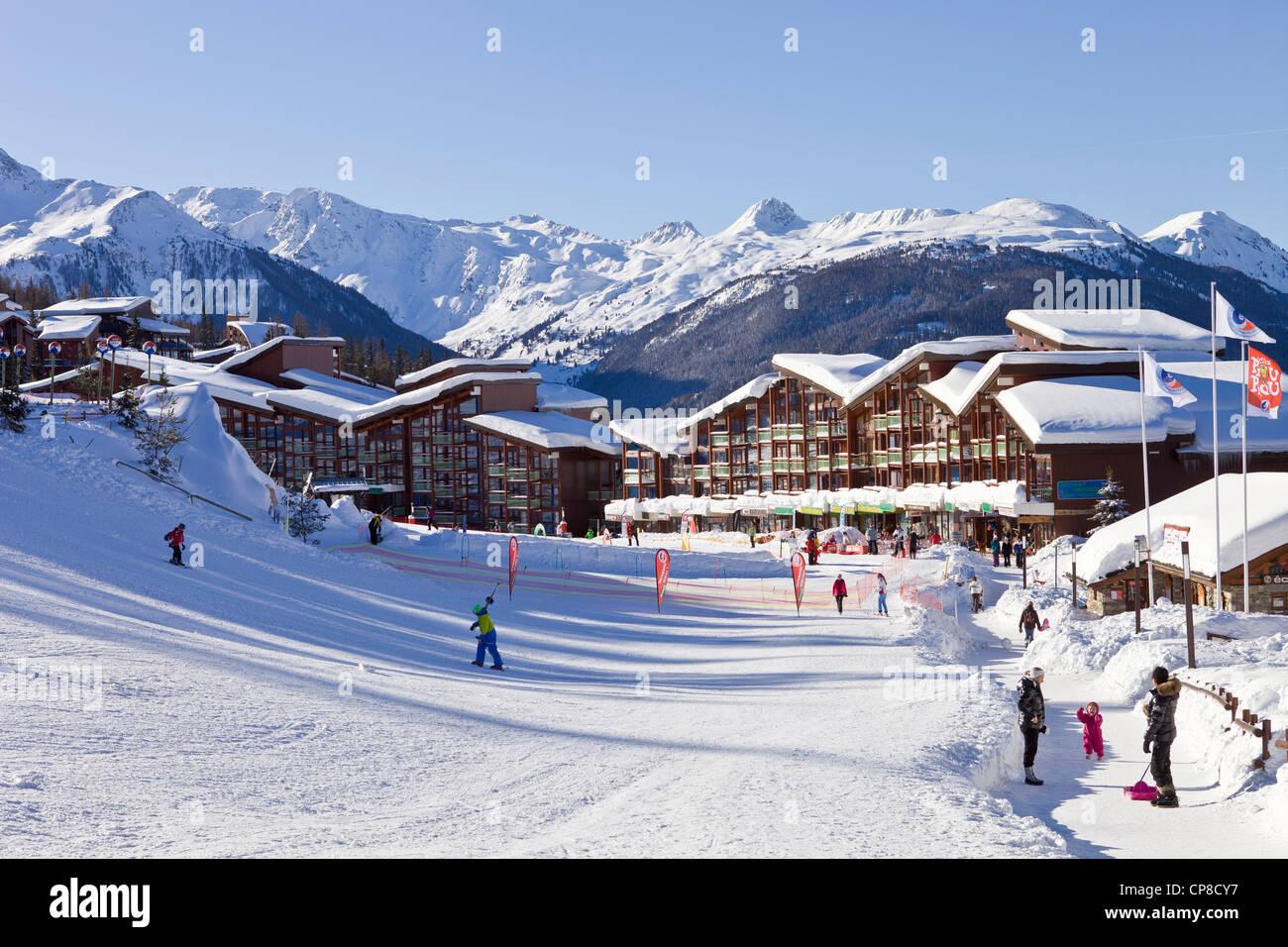 France, Savoie, Les Arcs 1800, Massif de La Vanoise, high Tarentaise valley - Stock Image