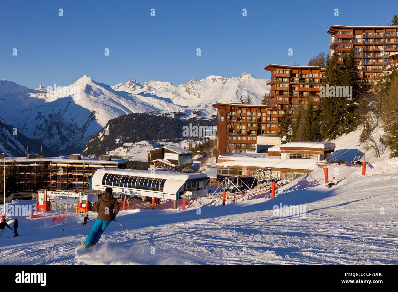France, Savoie, Les Arcs 1600, Massif de La Vanoise, high Tarentaise valley - Stock Image