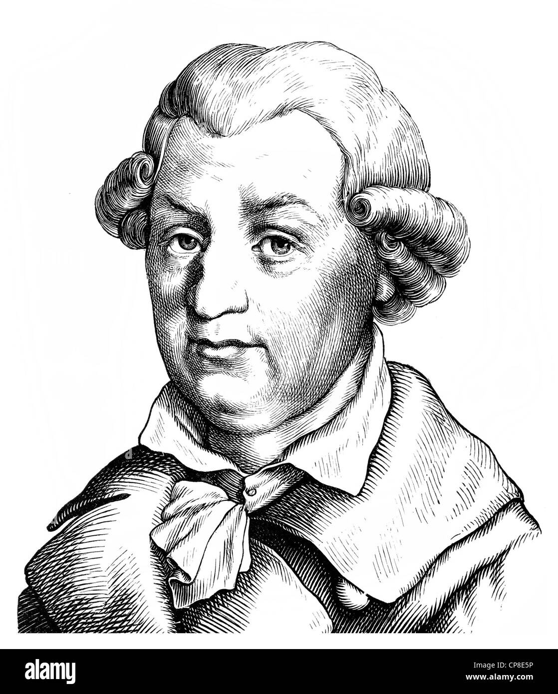 Johann Karl August Musaeus, 1735 - 1787, a German writer, literary critic, scholar and collector of fairy tales - Stock Image