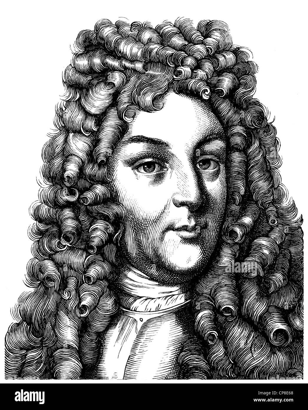Margrave Ludwig Wilhelm von Baden-Baden or Tuerkenlouis, 1655 - 1707, regent of the marquisate of Baden-Baden, lieutenant - Stock Image