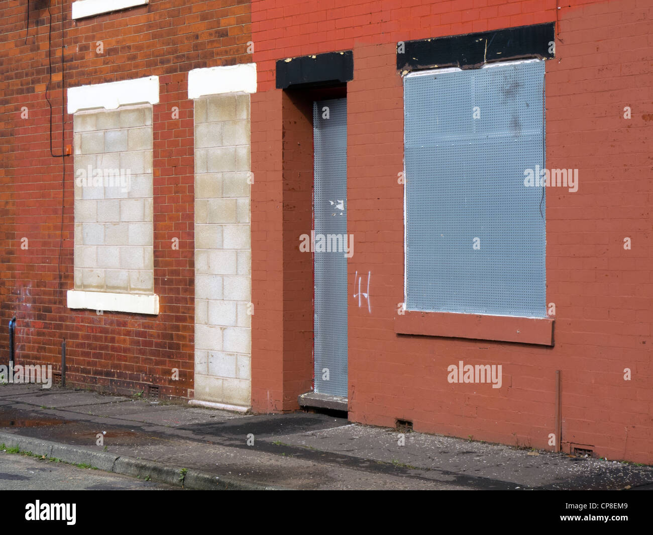 England, Salford, Lower Broughton, early 19th century housing ready for demolition - Stock Image
