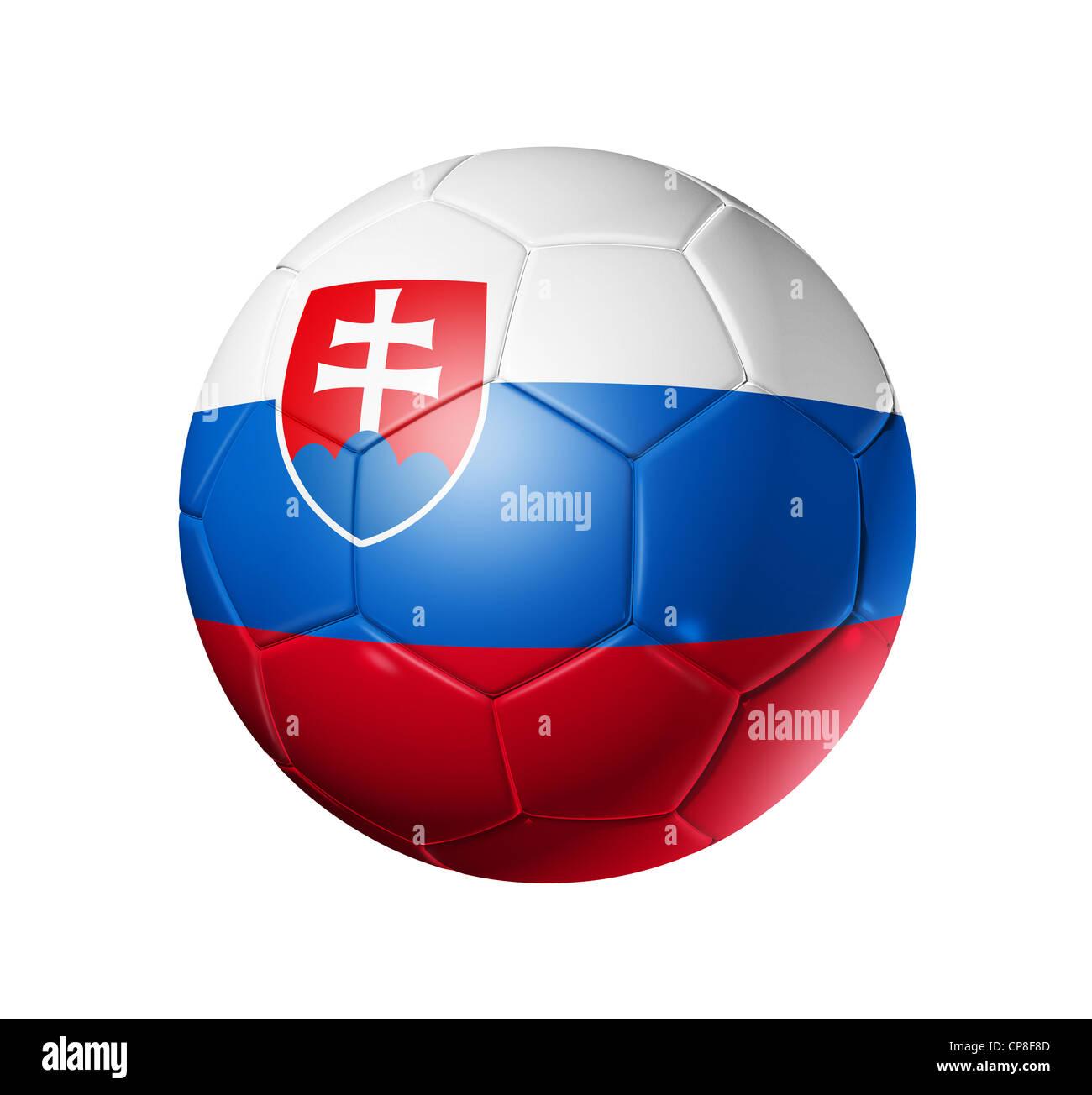 459c7e071dd 3D soccer ball with Slovakia team flag