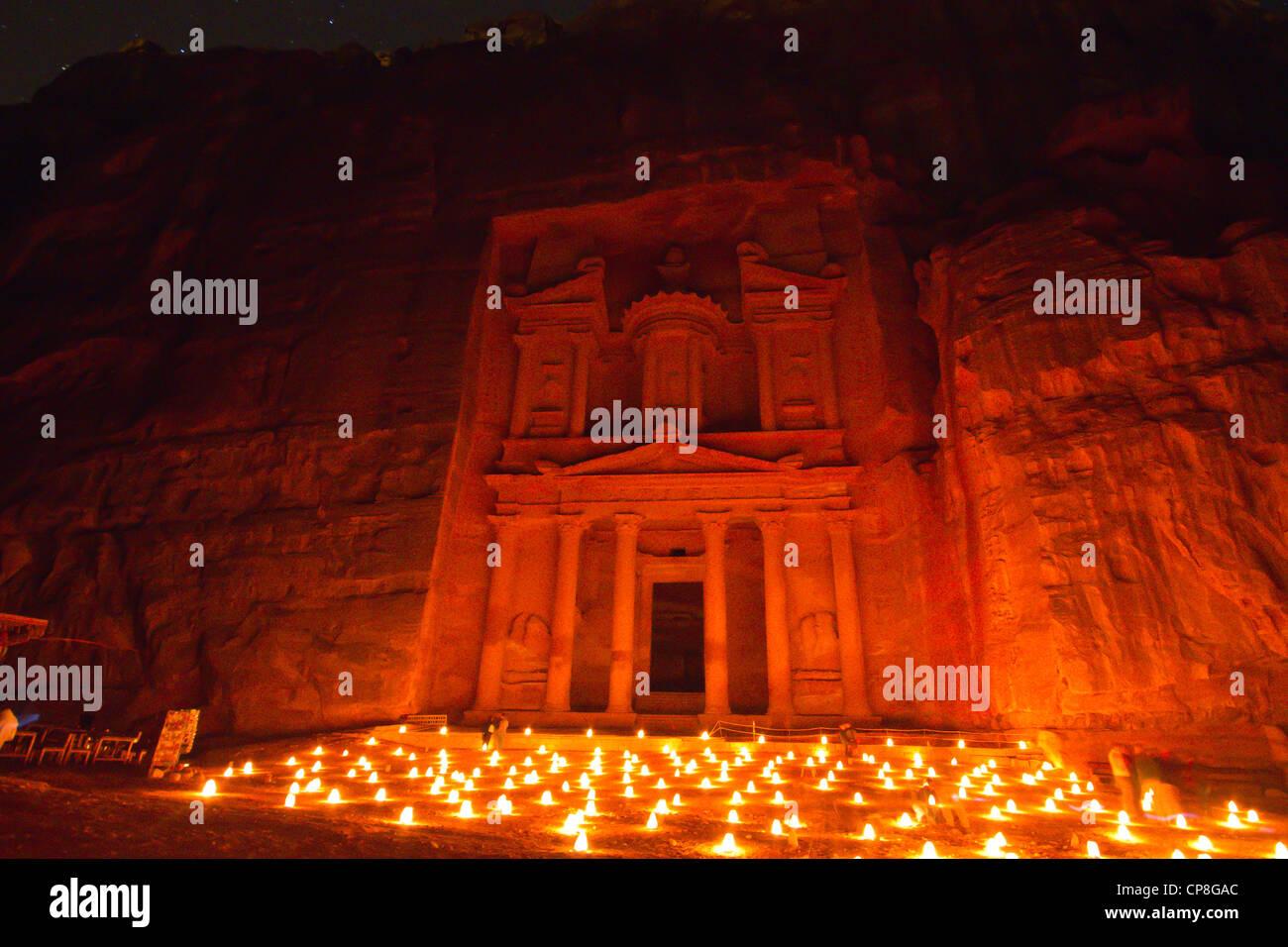 Petra by Candlelight, Jordan - Stock Image