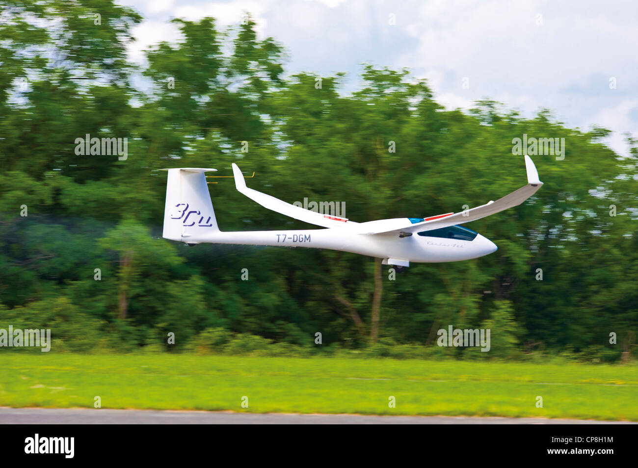 Europe Italy Piedmont Turin  airport of Collegno Word Air Games 2009 glider - Stock Image