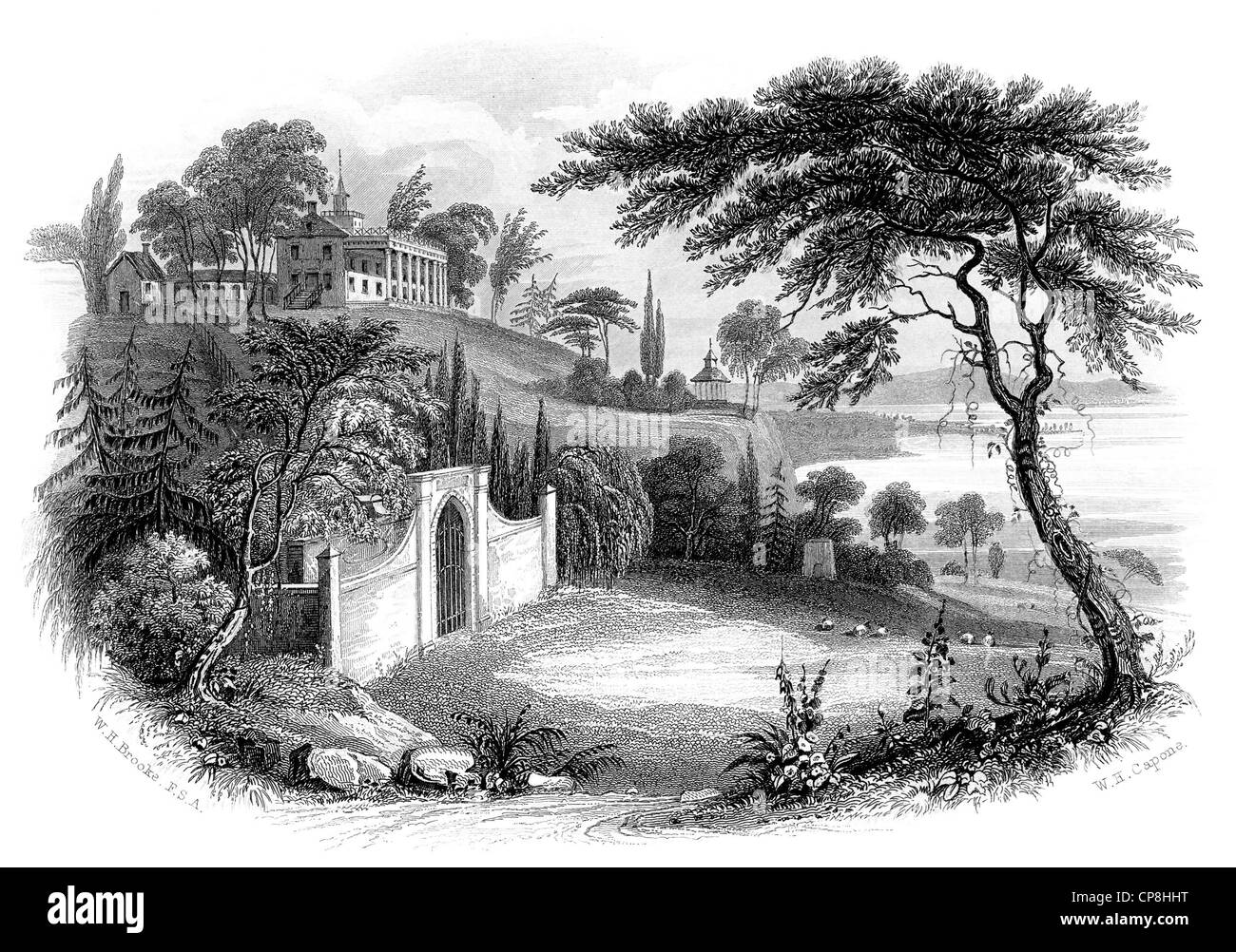 Mount Vernon, colonial-style estate of George Washington, Virginia, USA , Mount Vernon, der Landsitz im Kolonialstil - Stock Image