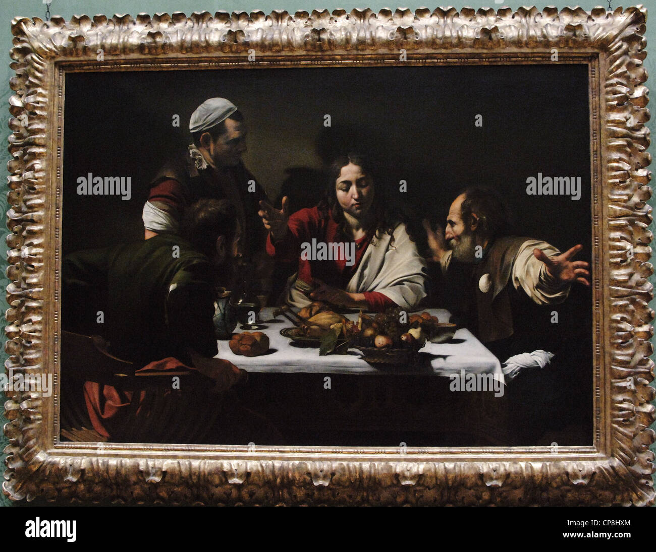 Baroque Art. Italy. Michelangelo Merisi da Caravaggio (1571-1610). Italian painter. Supper at Emmaus (1601). Oil - Stock Image