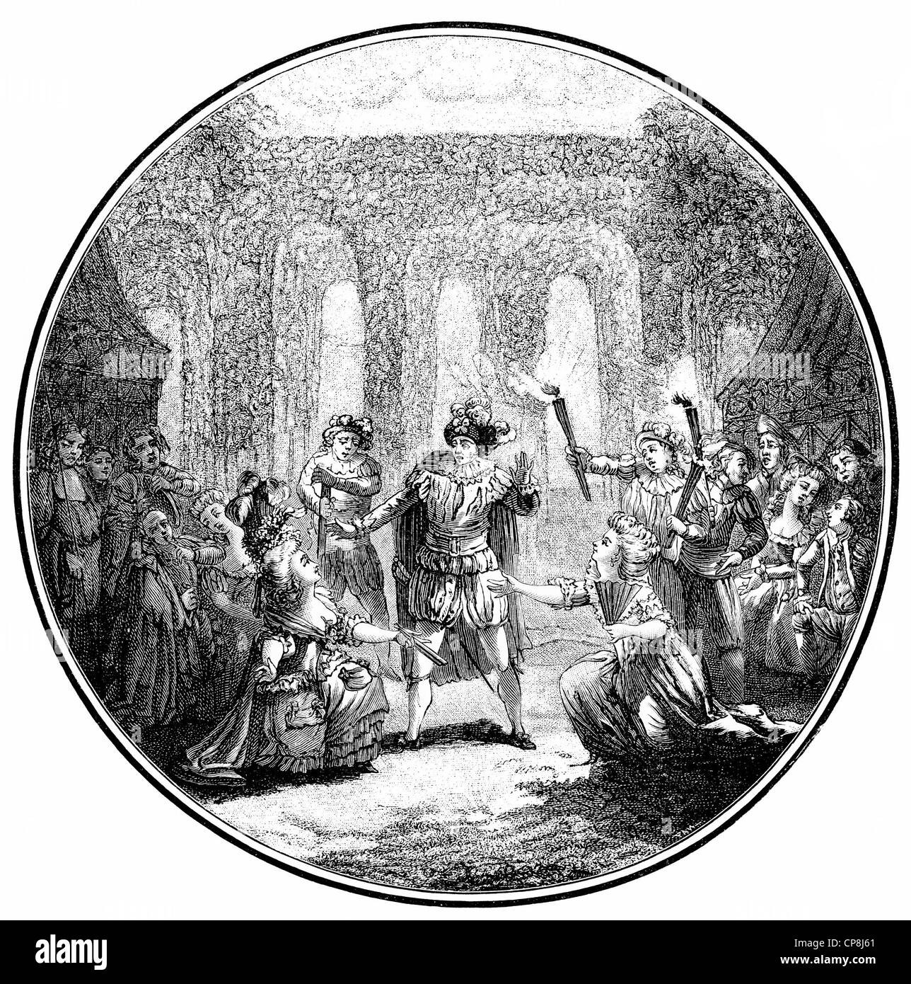 French comedy La Folle Journée ou le Mariage de Figaro or The great day and the Marriage of the Figaro, by - Stock Image