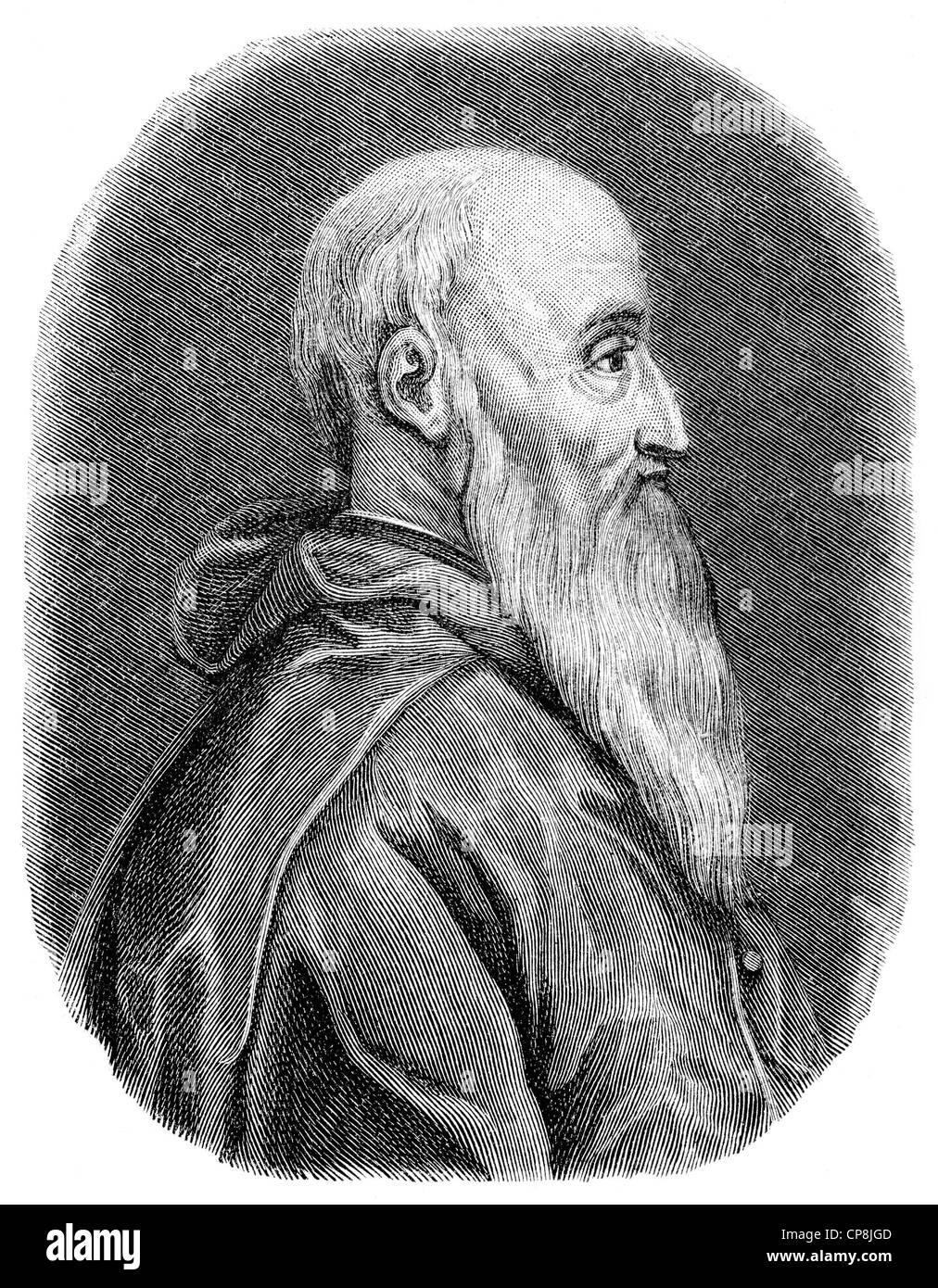 Pietro Bembo, 1470 - 1547, an Italian humanist scholar and Cardinal, Historische Zeichnung aus dem 19. Jahrhundert, Stock Photo