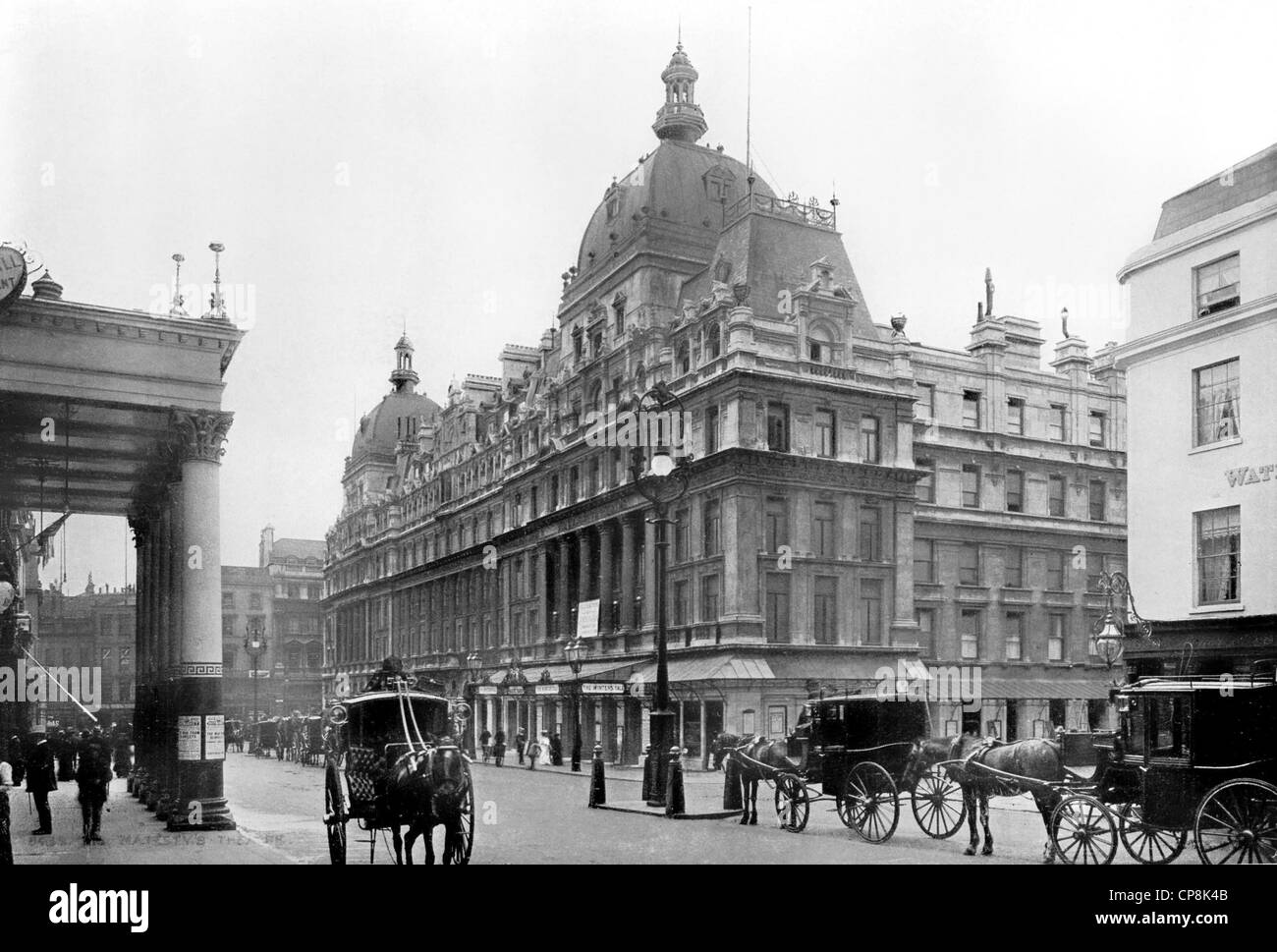 Historical photograph from the 19th century, Her Majesty' Theatre, Westminster, London, England - Stock Image