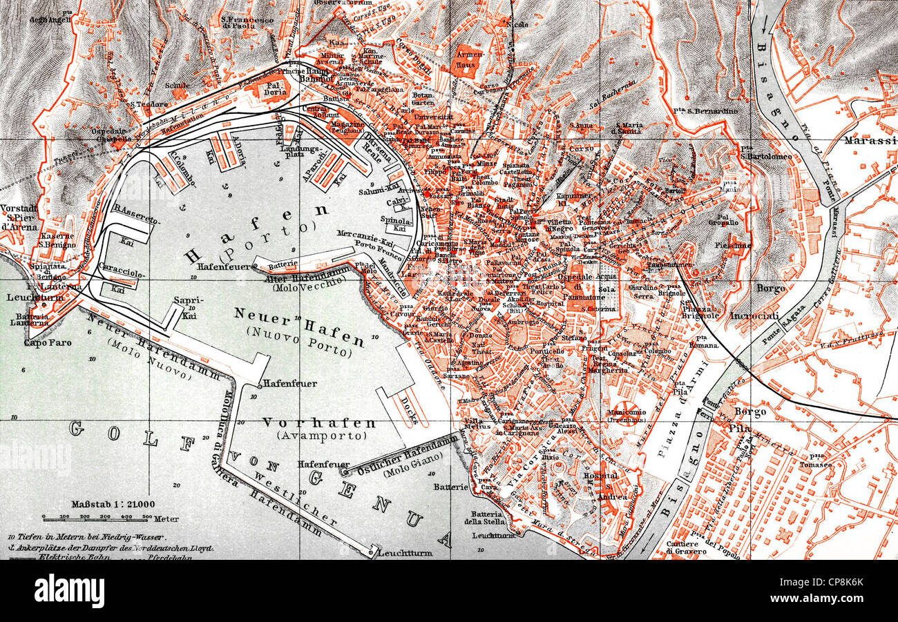 Map Genoa Stock s & Map Genoa Stock Alamy
