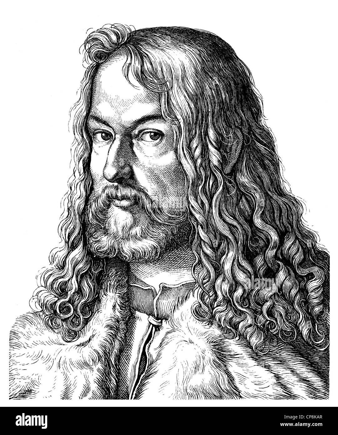 Albrecht Duerer the Younger, 1471 - 1528, a German painter, printmaker, mathematician and theorist at the time of Stock Photo