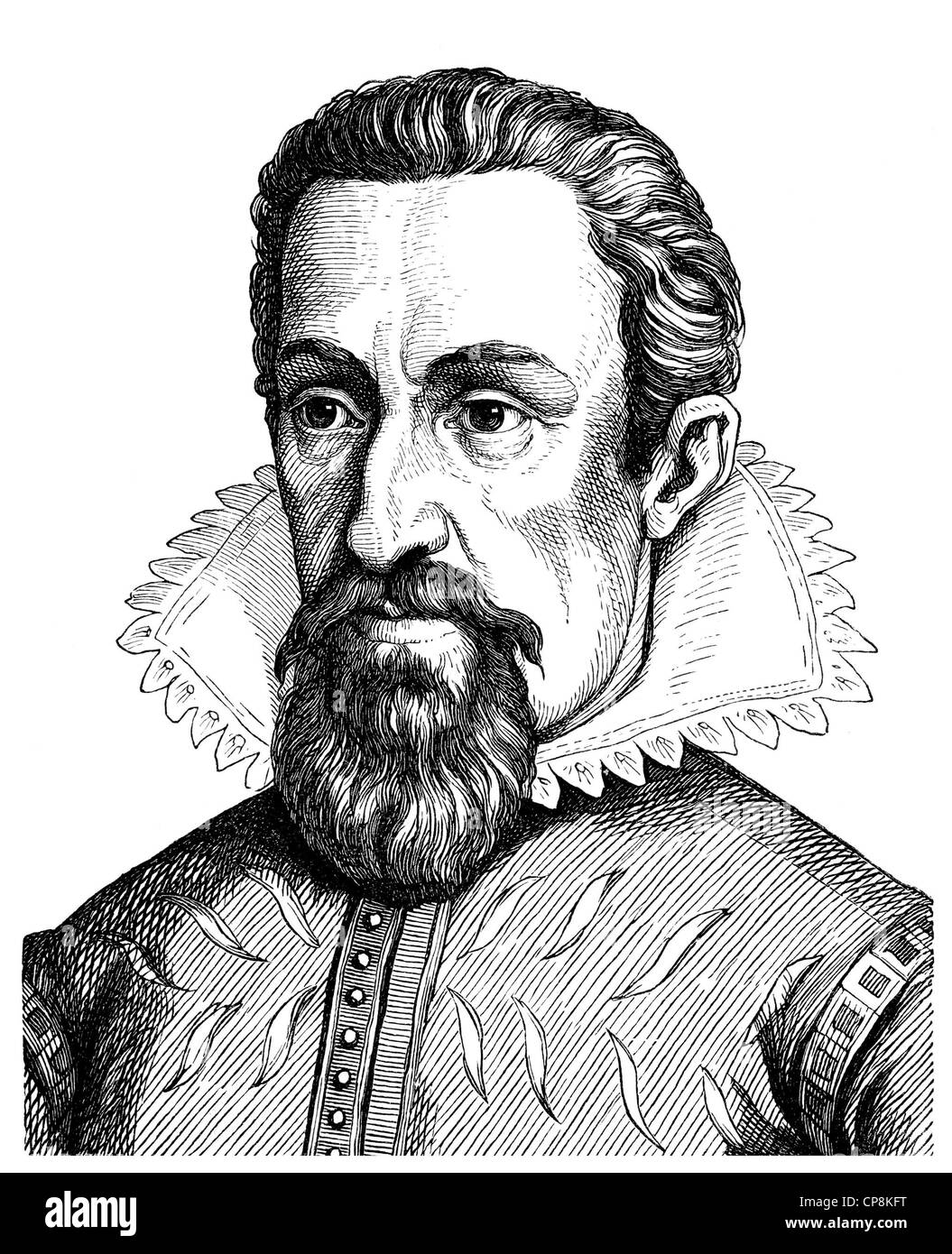 Johannes Kepler or Keppler, 1571-1630, German philosopher, mathematician, astronomer, astrologer, optician and Protestant - Stock Image
