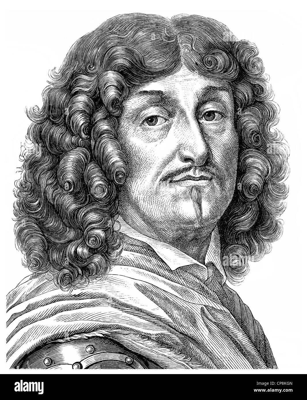 George von Derfflinger, 1606 - 1695, Field Marshal in Brandenburg by appointment of the Elector and Governor of - Stock Image