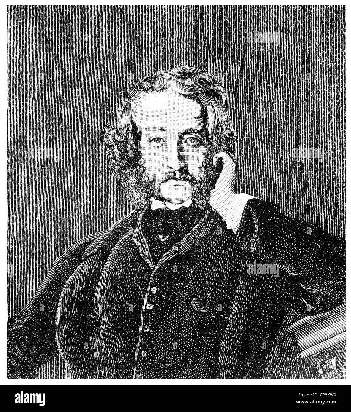 Edward George Earle Lytton Bulwer-Lytton, 1803 - 1873, an English politician, poet and playwright, Historische Zeichnung Stock Photo
