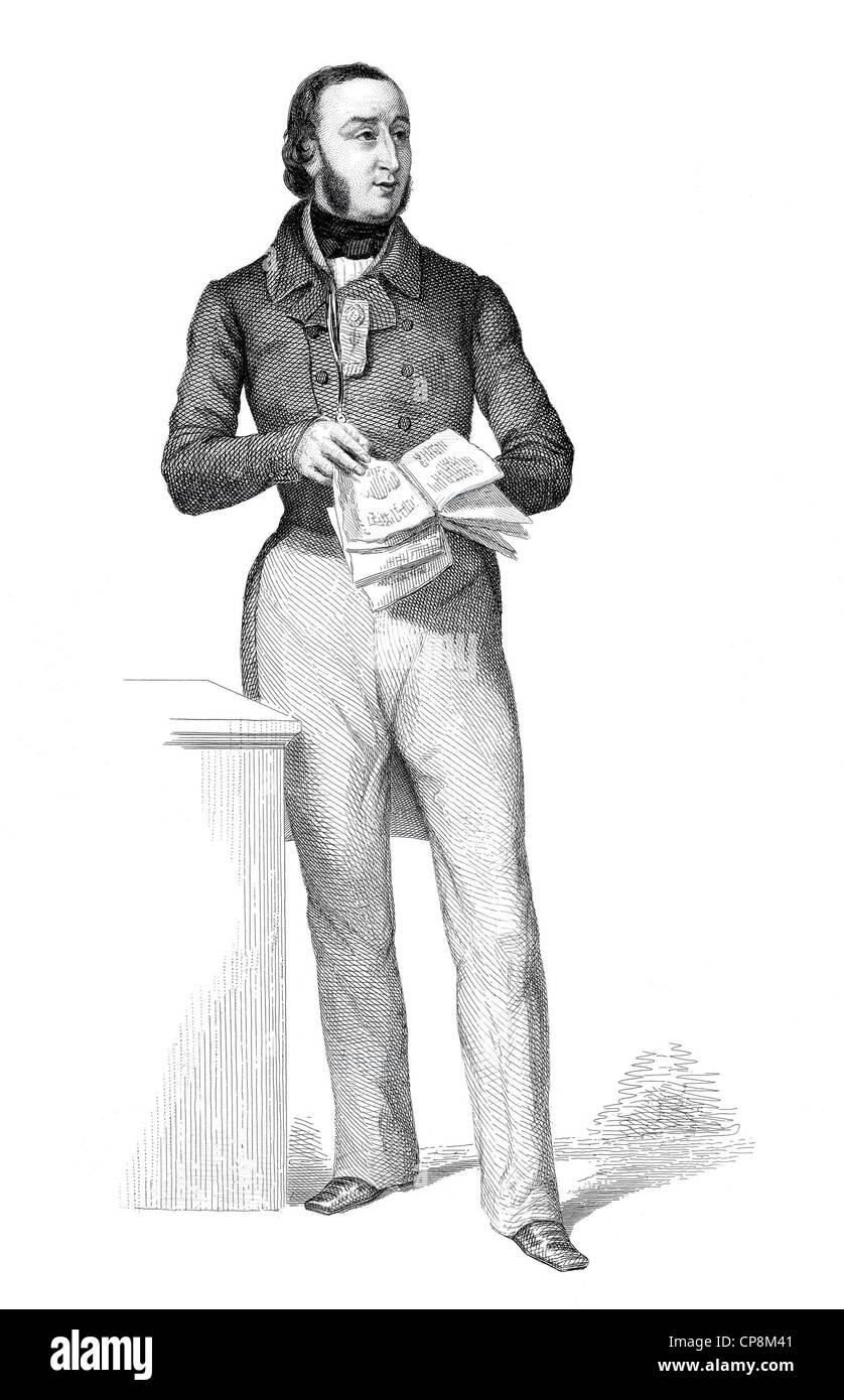 Michel Alcan, 1810 - 1877, member of the French National Assembly, France, 1848, Historischer Stahlstich aus dem - Stock Image