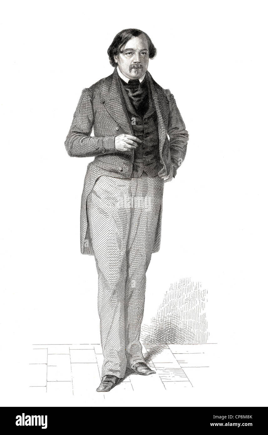 Ferdinand Flocon, 1800 - 1866, member of the French National Assembly, France, 1848, Historischer Stahlstich aus - Stock Image