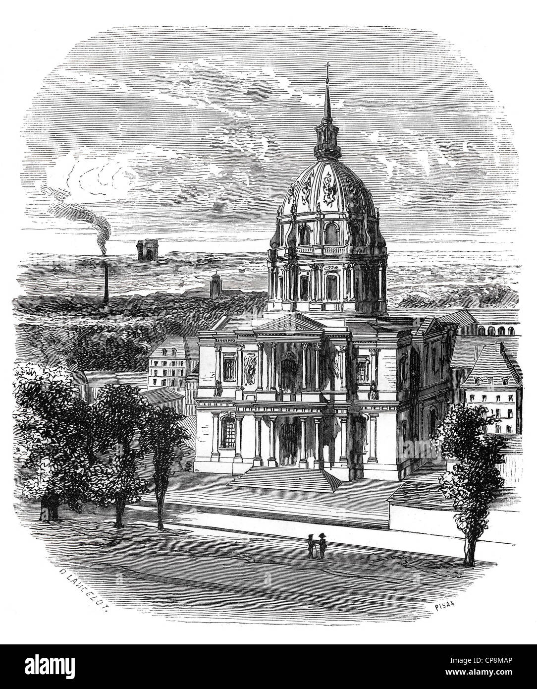 The L'Hôtel National des Invalides, The National Residence of the Invalids, built by the architects Libéral - Stock Image
