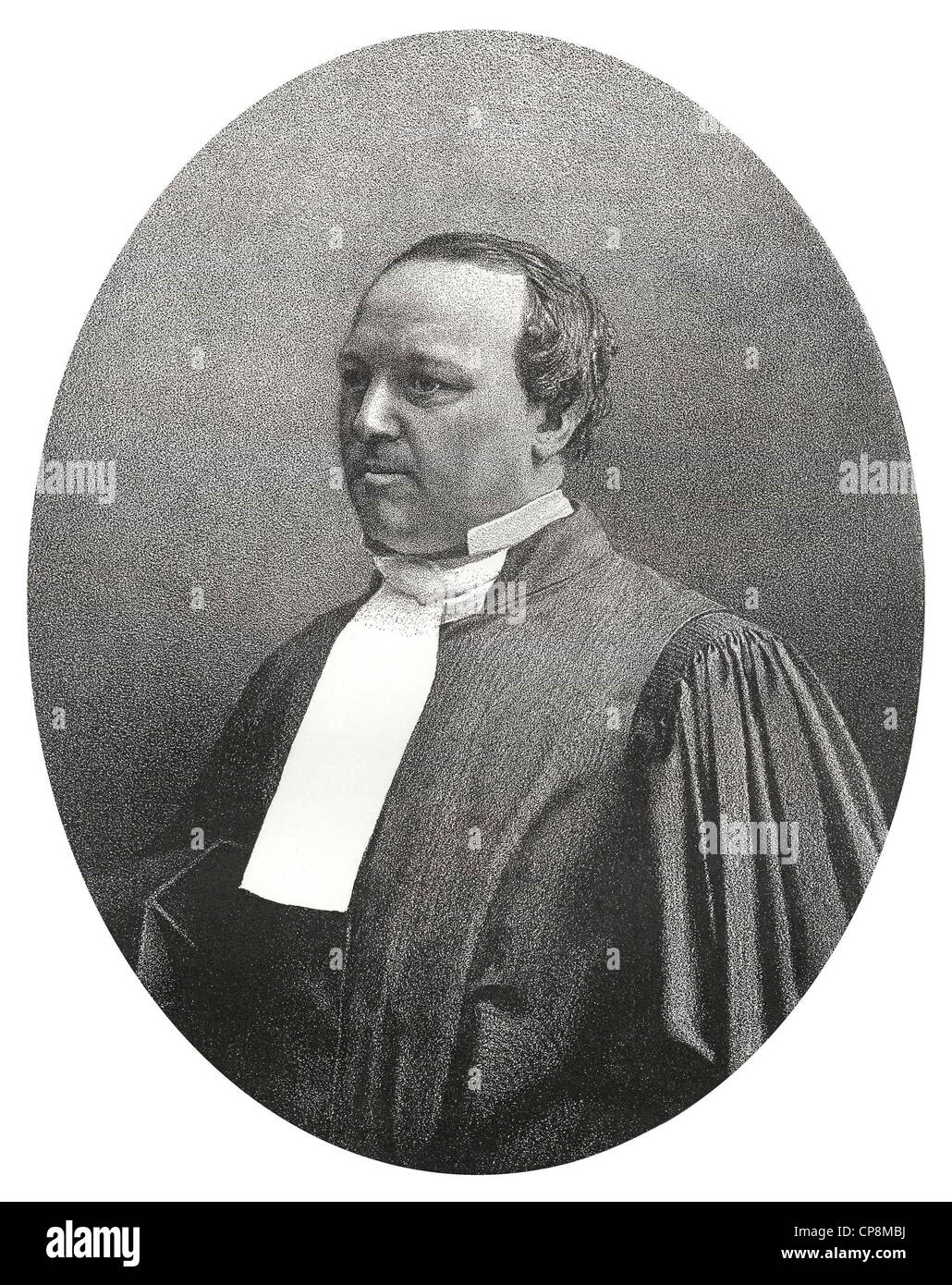 Charles Alexandre Lachaud, a French lawyer, Historic steel engraving from the 19th century, Historische Lithografie - Stock Image