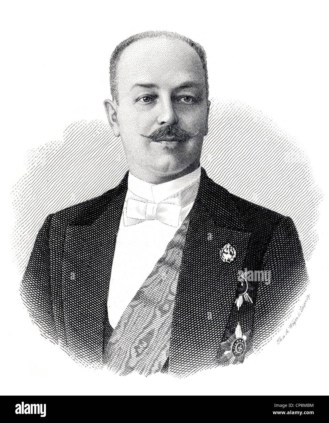 Vladimir Nikolayevich Count Lamsdorf, a Russian diplomat and statesman of Baltic German descent, foreign minister - Stock Image