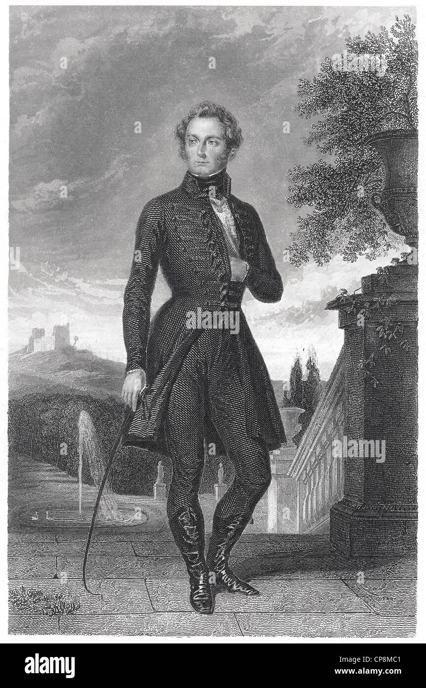 Leopold von Baden, Grand Duke of Baden, Germany, 19th Century, Historic steel engraving from the 19th century, Historischer - Stock Image