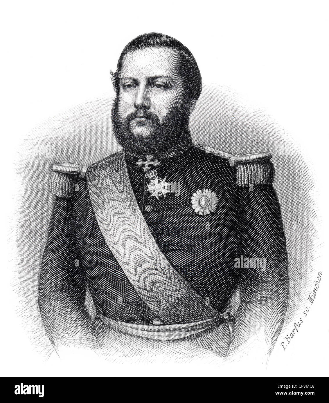 Francisco Solano López Carrillo, President of Paraguay, 19th century, Historic steel engraving from the 19th - Stock Image