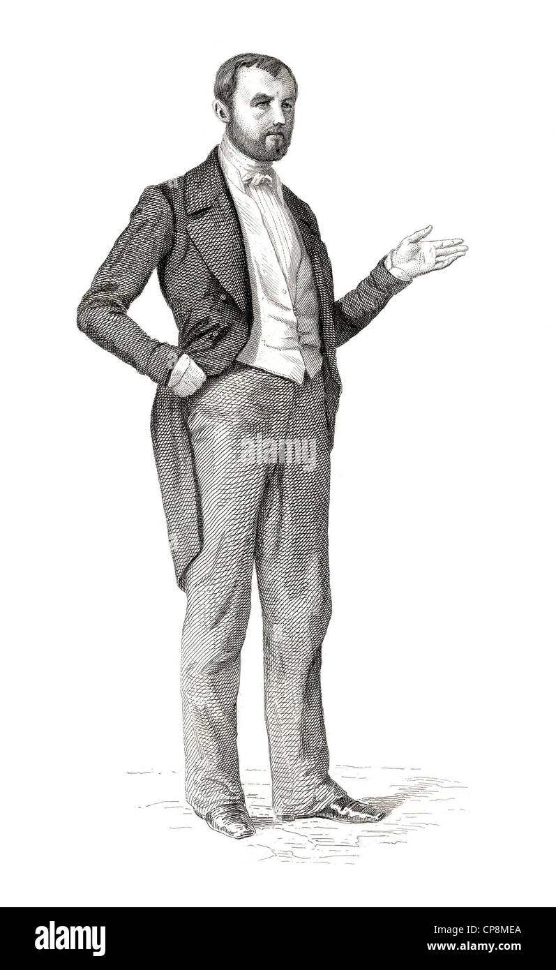 Jean-Baptiste Payer, 1818 - 1860, member of the French National Assembly, represented Ardennes, 1848, Historischer - Stock Image