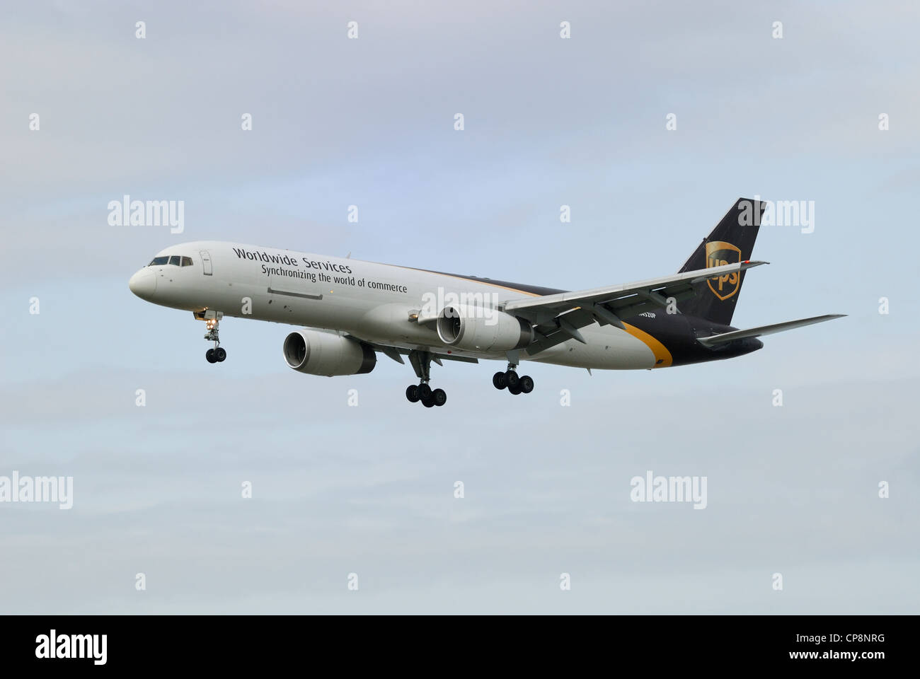 UPS N452UP Boeing 757-24APF on final approach. - Stock Image