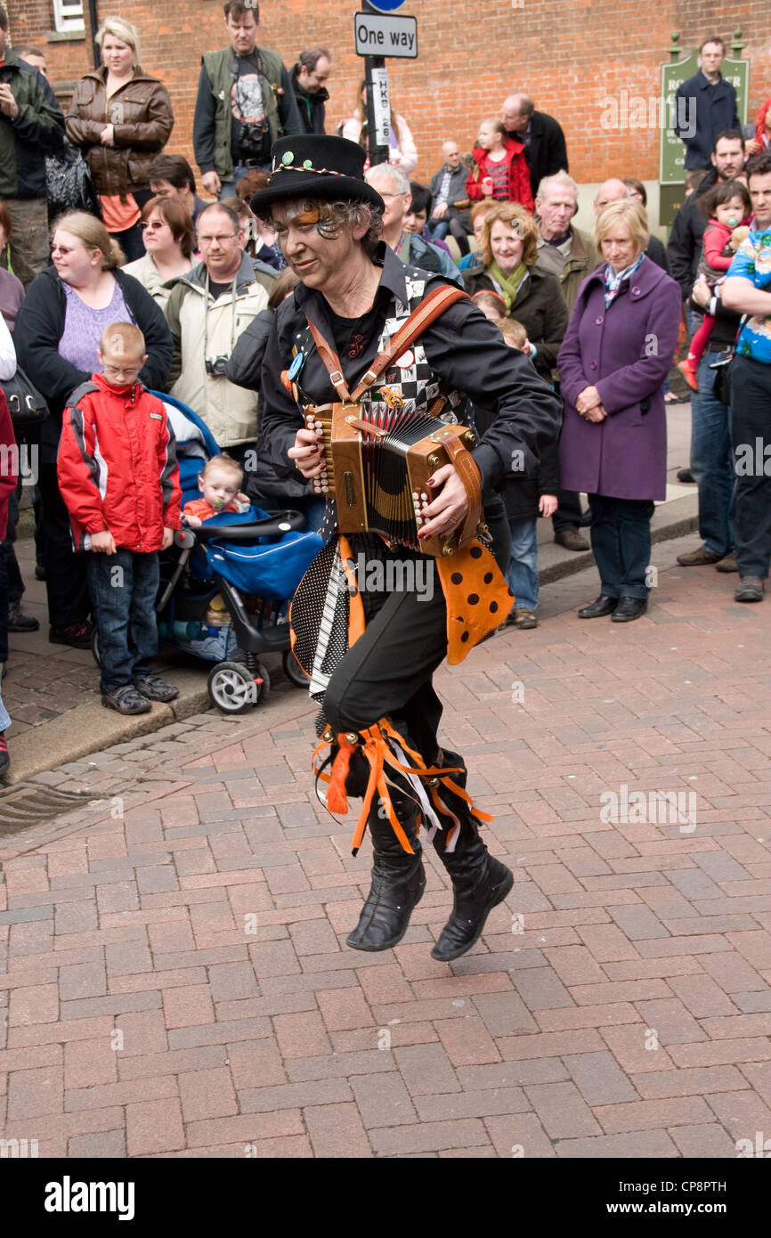 Sweeps Morris Dancing Annual Festival Rochester Kent England UK - Stock Image