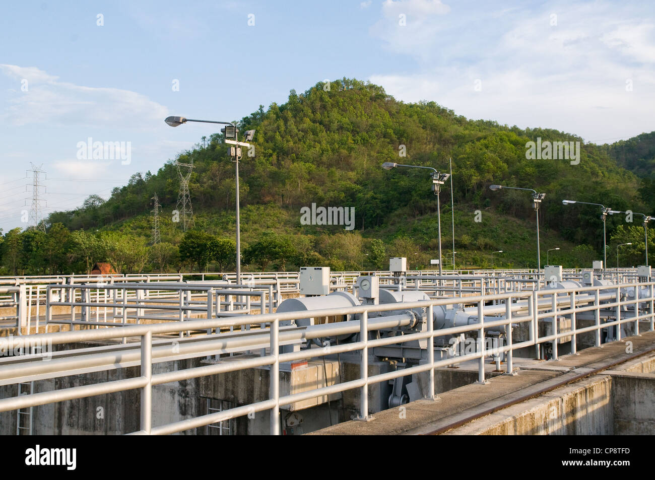 Detail of The Lower Mae Ping Dam in Tak Province, Thailand. - Stock Image