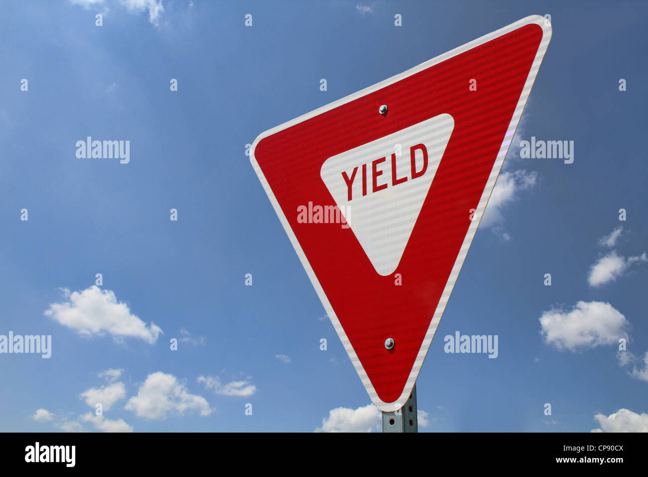 Yield Sign - Stock Image