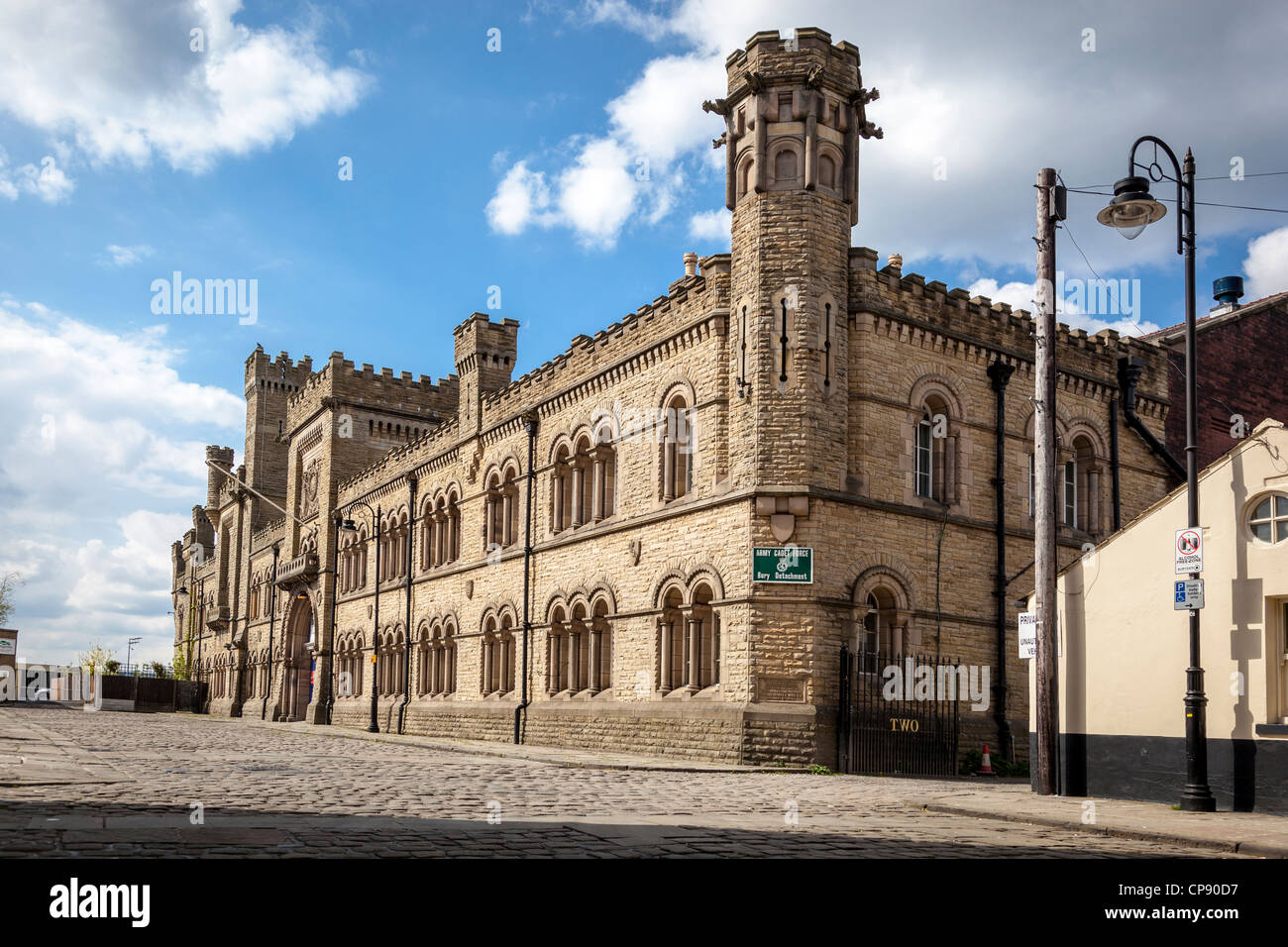 The Castle barracks and Armoury in Bury Lancashire. - Stock Image