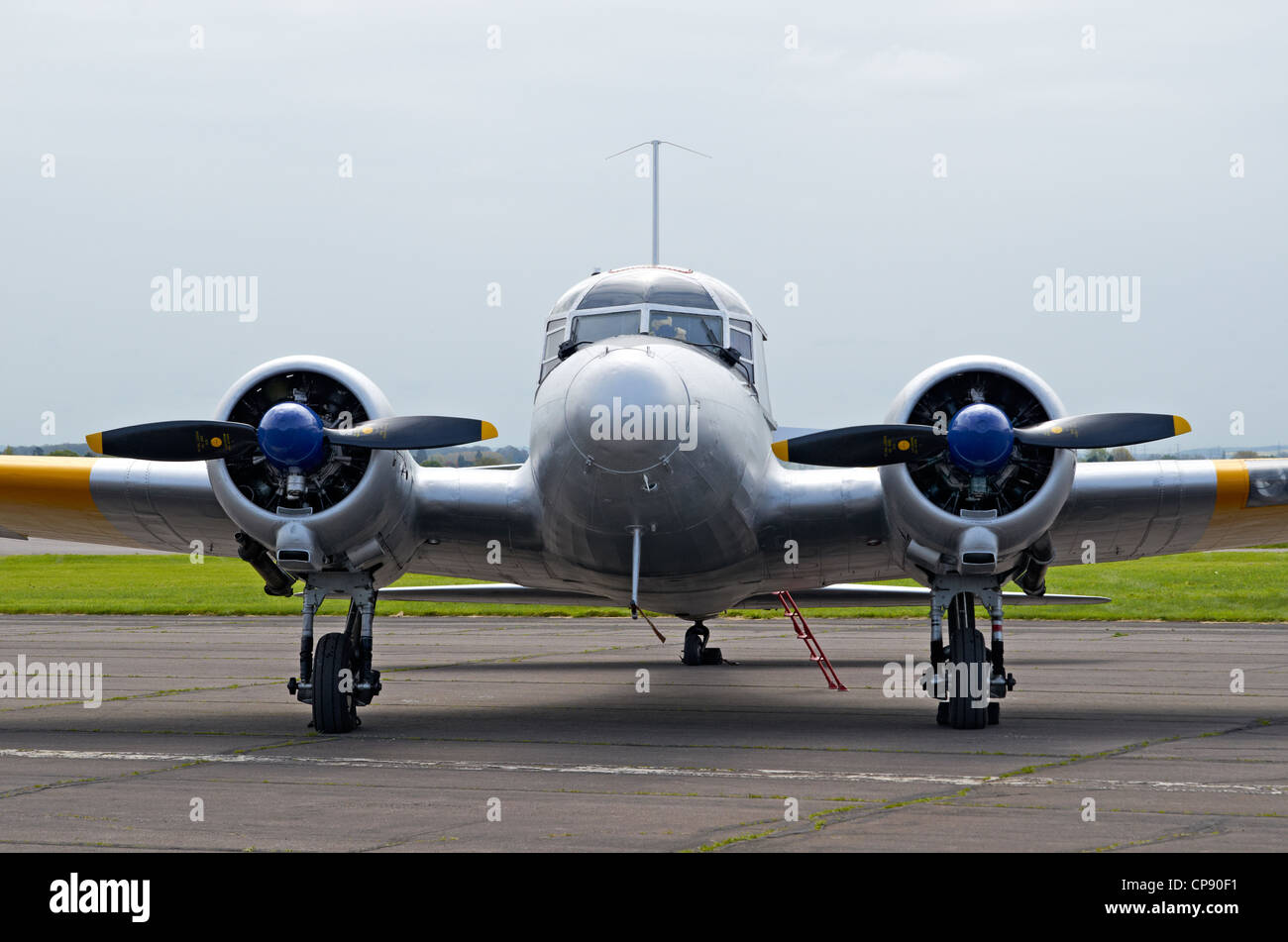 Avro Anson C.12 aircraft built 1935-1952 by Avro and also in Canada. Multi-engine trainer. Display Abingdon Airshow - Stock Image