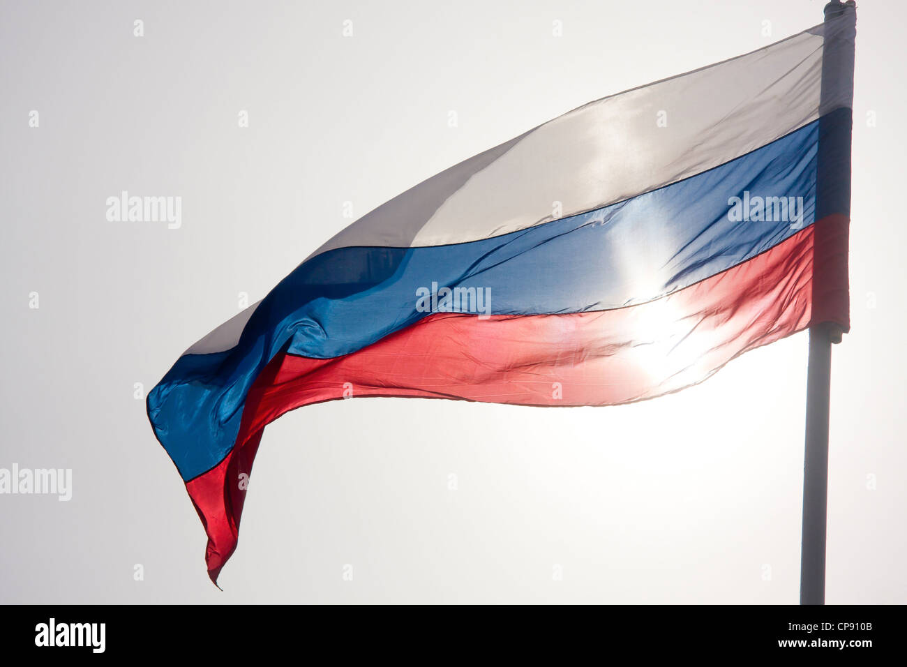 The flag of the Russian Federation, russian flag,  tricolor flag - Stock Image