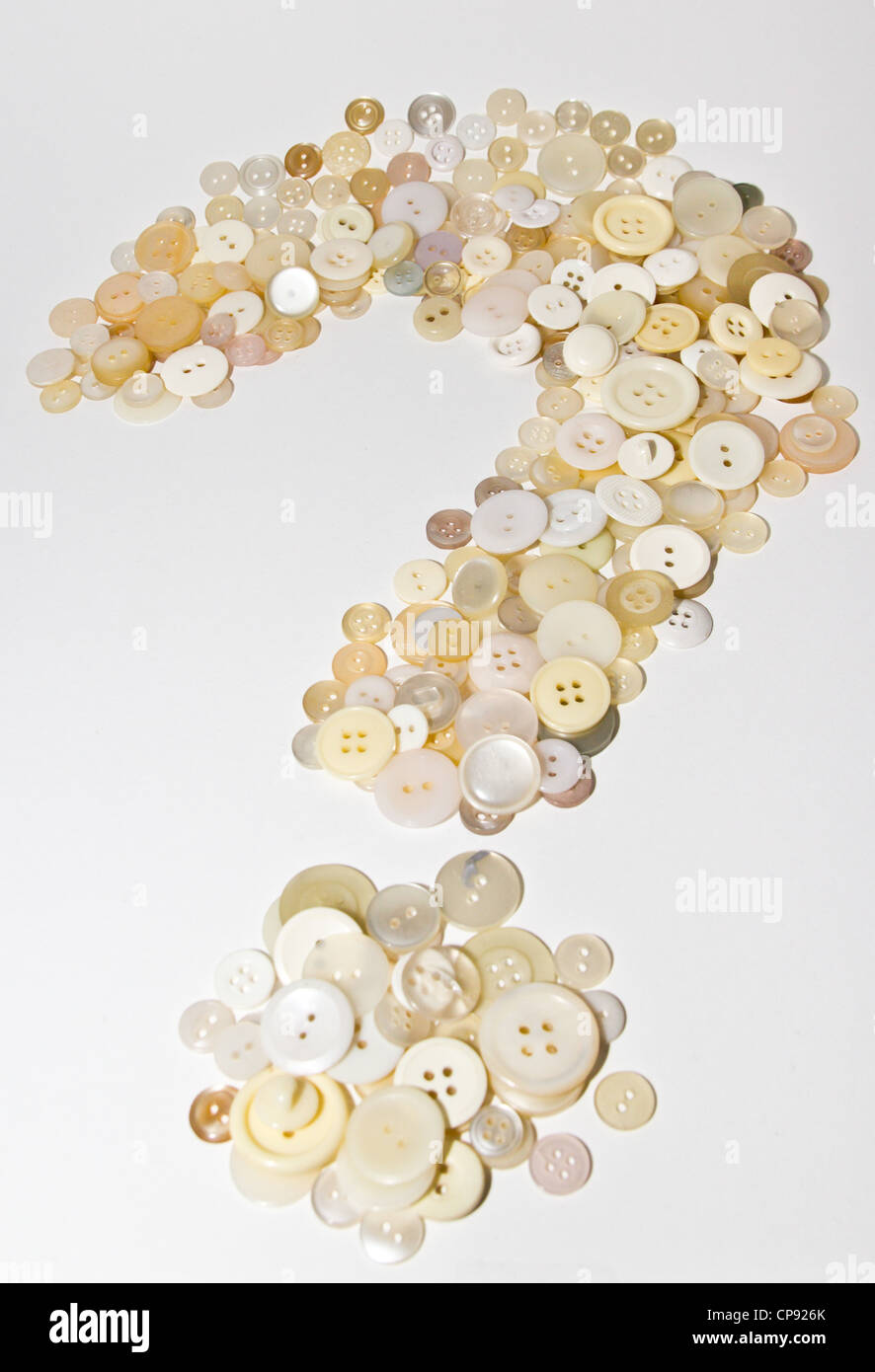 question mark made of buttons - Stock Image