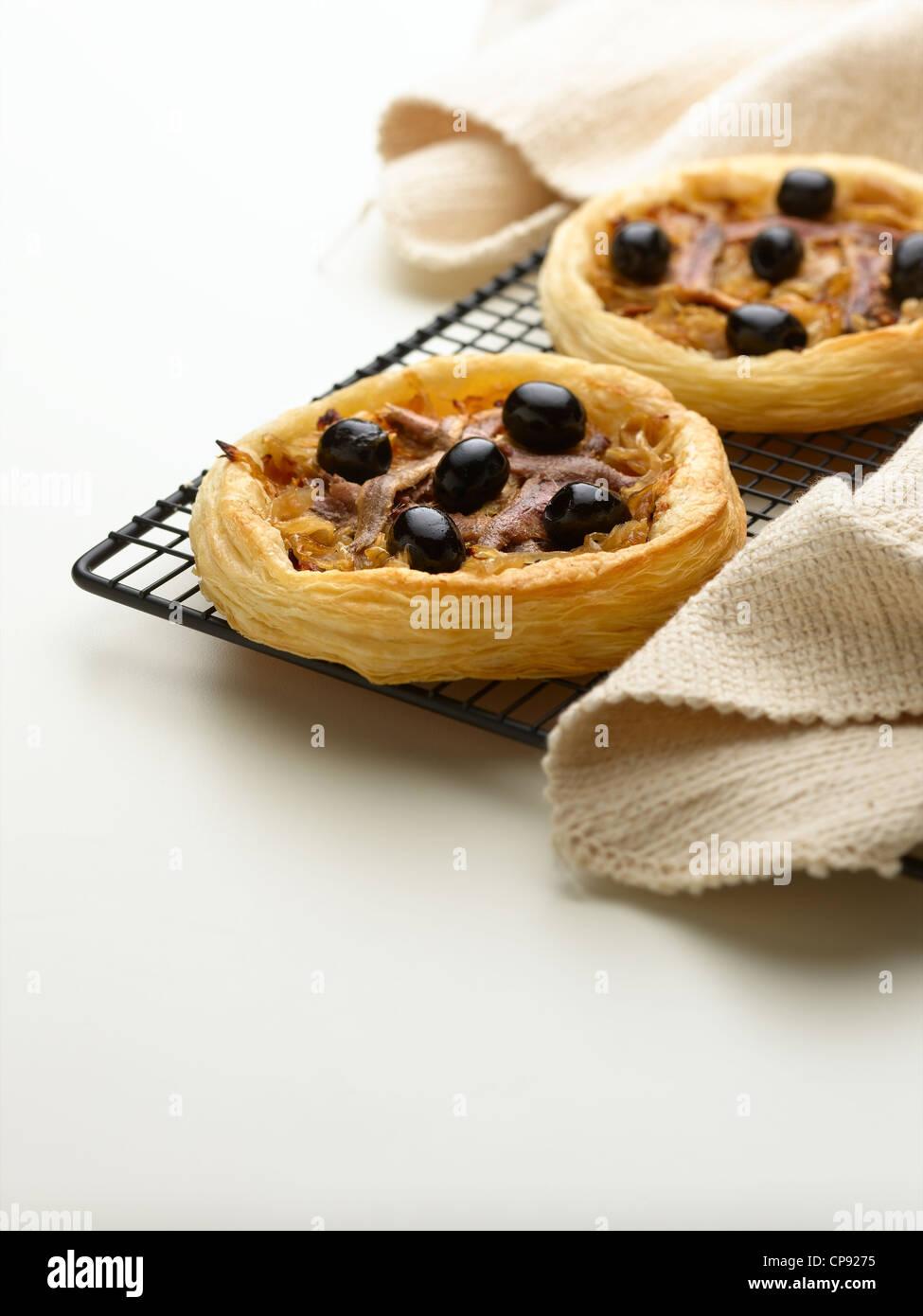 onion tart - Stock Image