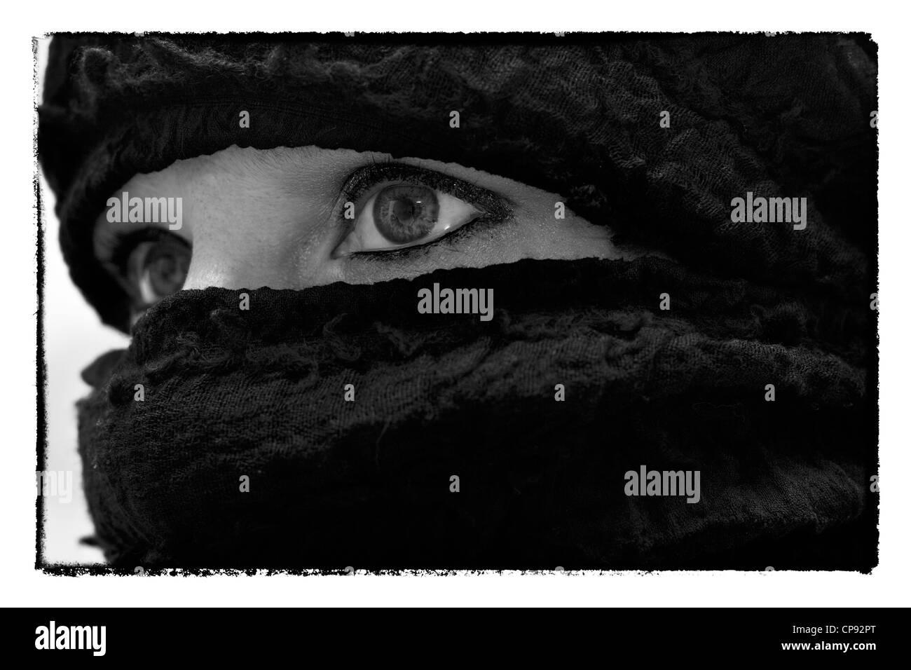 in veil - Stock Image