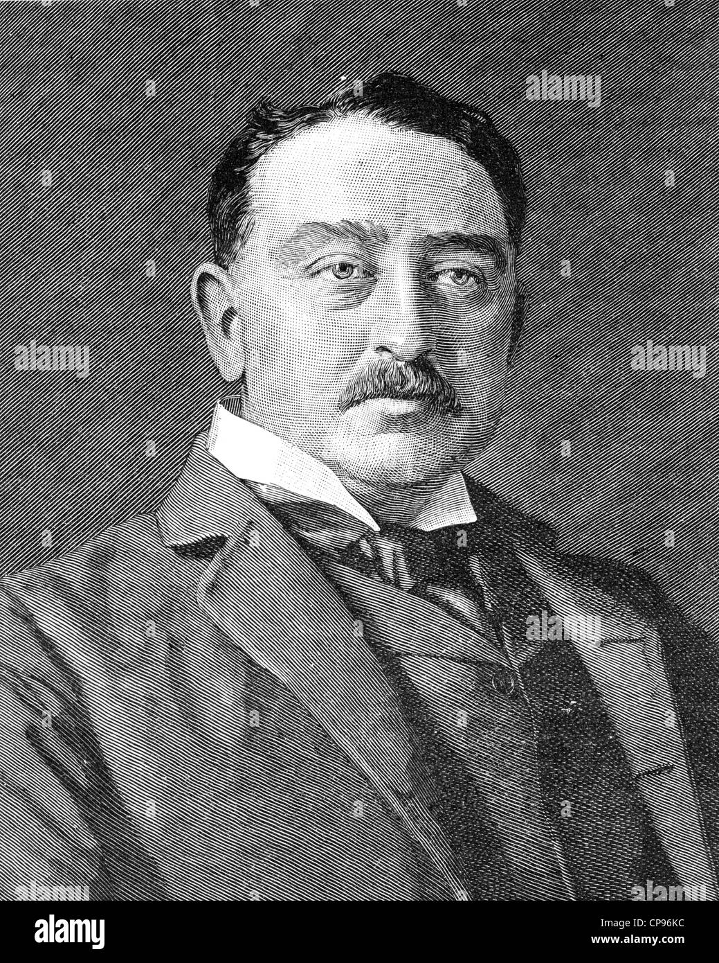 CECIL RHODES (1853-1902) South African businessman and politician - Stock Image
