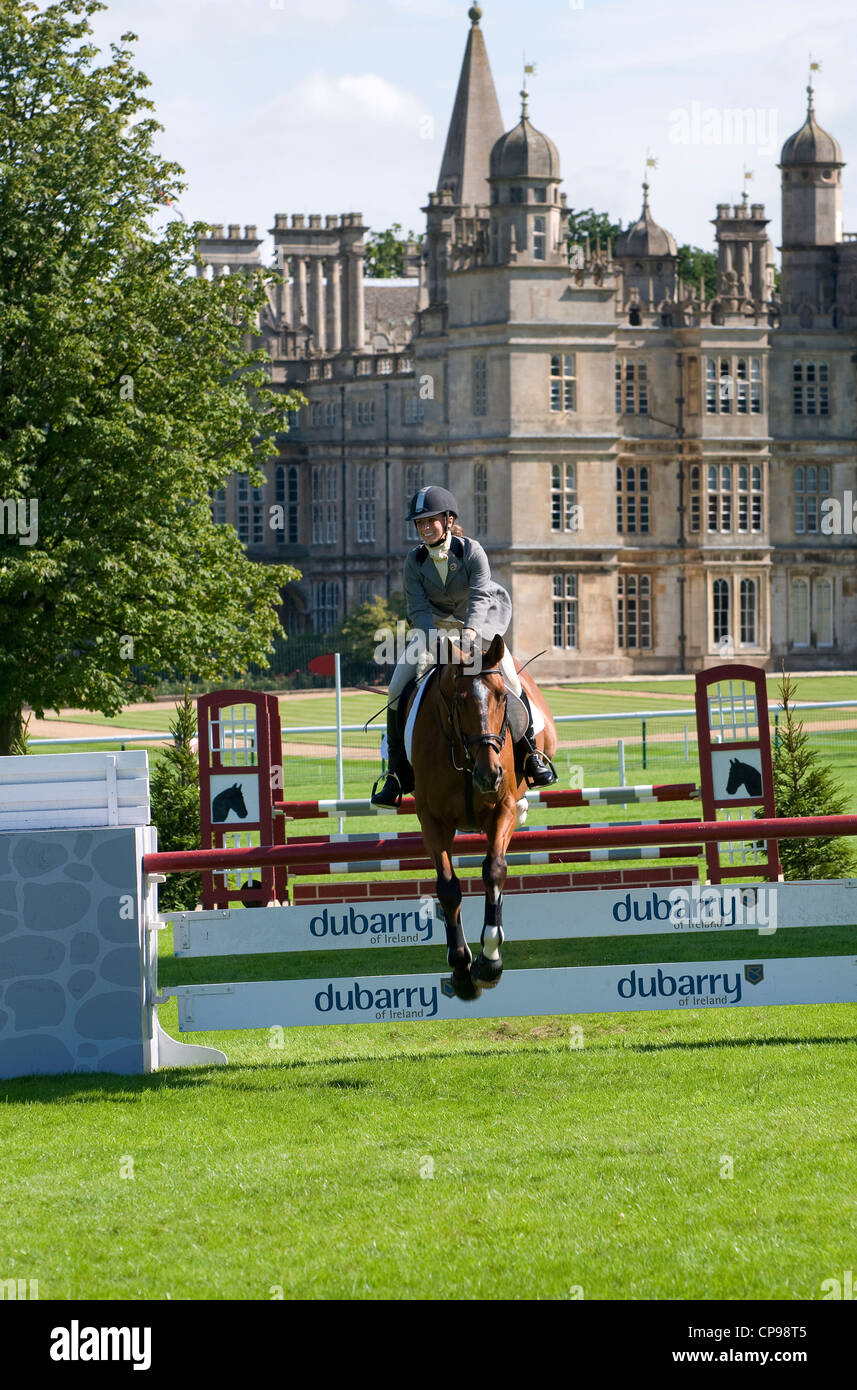 eventing at burghley house, lincolnshire, england - Stock Image