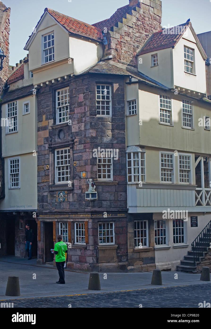 The John Knox House, Royal Mile, Old Town, Edinburgh Stock Photo