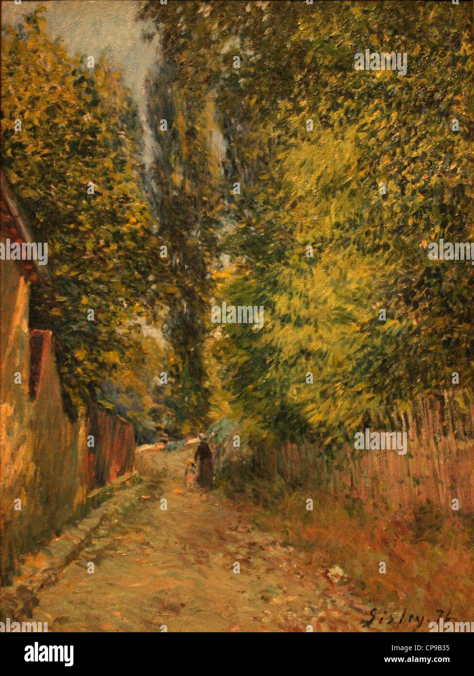Painting of Sisley in the Wallraf-Richartz Museum, Cologne - Stock Image