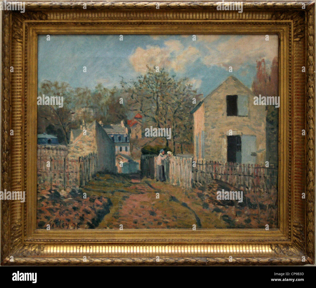 Painting of Sisley in the Orsay Museum, Paris - Stock Image