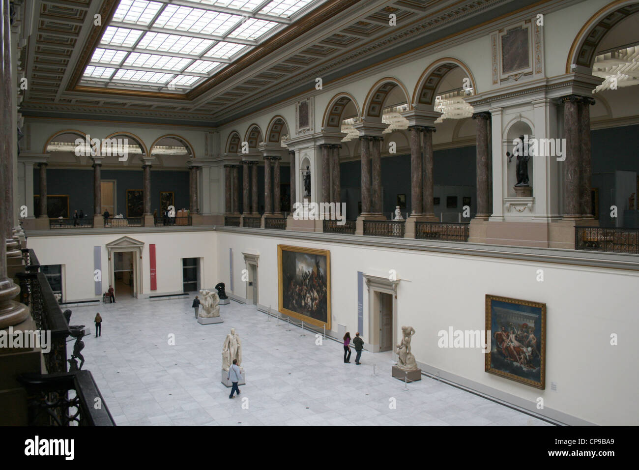 Main Hall of the Royal Museum of Fine Arts of Belgium, Brussels - Stock Image